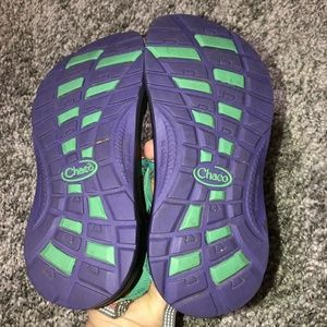 Chaco Shoes - Chacos Youth Z2 Size 2 Girls Aztec Teal Green